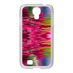 Abstract Pink Colorful Water Background Samsung GALAXY S4 I9500/ I9505 Case (White)