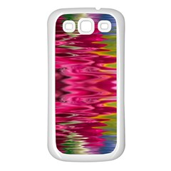 Abstract Pink Colorful Water Background Samsung Galaxy S3 Back Case (White)