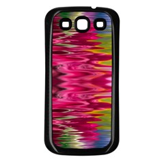Abstract Pink Colorful Water Background Samsung Galaxy S3 Back Case (Black)