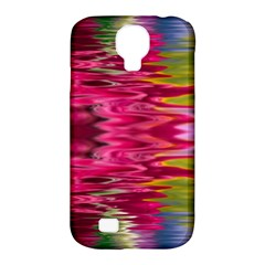 Abstract Pink Colorful Water Background Samsung Galaxy S4 Classic Hardshell Case (PC+Silicone)