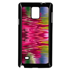 Abstract Pink Colorful Water Background Samsung Galaxy Note 4 Case (black)