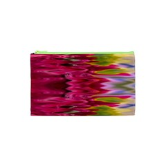 Abstract Pink Colorful Water Background Cosmetic Bag (xs)