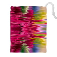 Abstract Pink Colorful Water Background Drawstring Pouches (xxl)