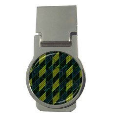 Futuristic Dark Pattern Money Clips (round)