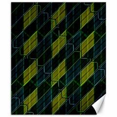 Futuristic Dark Pattern Canvas 8  x 10