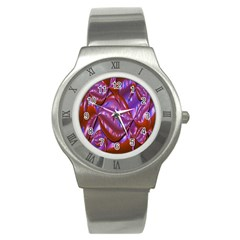 Passion Candy Sensual Abstract Stainless Steel Watch