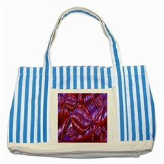 Passion Candy Sensual Abstract Striped Blue Tote Bag