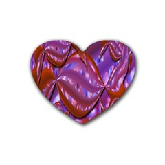 Passion Candy Sensual Abstract Rubber Coaster (heart)