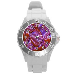 Passion Candy Sensual Abstract Round Plastic Sport Watch (l)