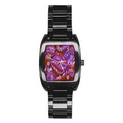 Passion Candy Sensual Abstract Stainless Steel Barrel Watch