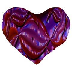 Passion Candy Sensual Abstract Large 19  Premium Flano Heart Shape Cushions
