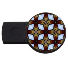 Abstract Seamless Background Pattern Usb Flash Drive Round (2 Gb)