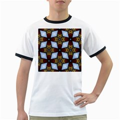 Abstract Seamless Background Pattern Ringer T Shirts