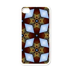 Abstract Seamless Background Pattern Apple iPhone 4 Case (White)