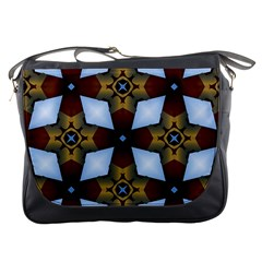 Abstract Seamless Background Pattern Messenger Bags