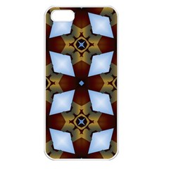 Abstract Seamless Background Pattern Apple iPhone 5 Seamless Case (White)