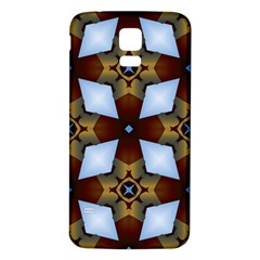Abstract Seamless Background Pattern Samsung Galaxy S5 Back Case (White)