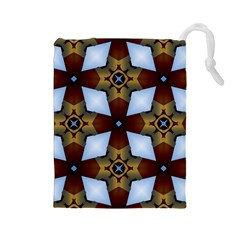 Abstract Seamless Background Pattern Drawstring Pouches (Large)