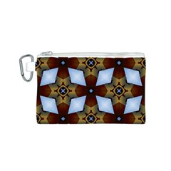 Abstract Seamless Background Pattern Canvas Cosmetic Bag (S)