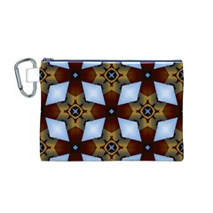 Abstract Seamless Background Pattern Canvas Cosmetic Bag (m)