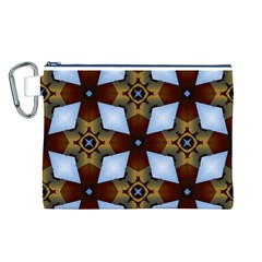 Abstract Seamless Background Pattern Canvas Cosmetic Bag (L)