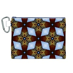 Abstract Seamless Background Pattern Canvas Cosmetic Bag (XL)