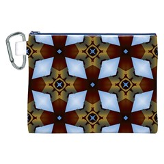Abstract Seamless Background Pattern Canvas Cosmetic Bag (XXL)