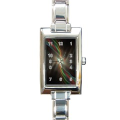 Colorful Waves With Lights Abstract Multicolor Waves With Bright Lights Background Rectangle Italian Charm Watch