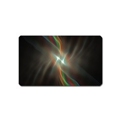 Colorful Waves With Lights Abstract Multicolor Waves With Bright Lights Background Magnet (Name Card)