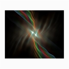 Colorful Waves With Lights Abstract Multicolor Waves With Bright Lights Background Small Glasses Cloth