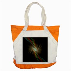 Colorful Waves With Lights Abstract Multicolor Waves With Bright Lights Background Accent Tote Bag