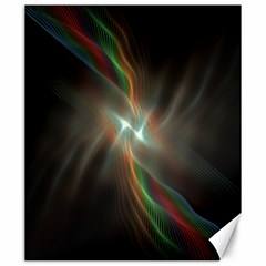 Colorful Waves With Lights Abstract Multicolor Waves With Bright Lights Background Canvas 20  x 24