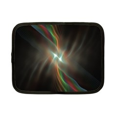 Colorful Waves With Lights Abstract Multicolor Waves With Bright Lights Background Netbook Case (small)