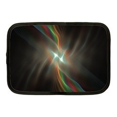 Colorful Waves With Lights Abstract Multicolor Waves With Bright Lights Background Netbook Case (medium)