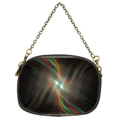 Colorful Waves With Lights Abstract Multicolor Waves With Bright Lights Background Chain Purses (two Sides)