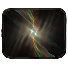 Colorful Waves With Lights Abstract Multicolor Waves With Bright Lights Background Netbook Case (xl)