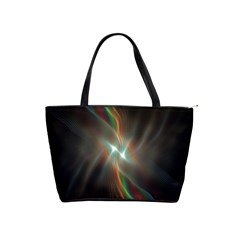 Colorful Waves With Lights Abstract Multicolor Waves With Bright Lights Background Shoulder Handbags