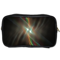 Colorful Waves With Lights Abstract Multicolor Waves With Bright Lights Background Toiletries Bags