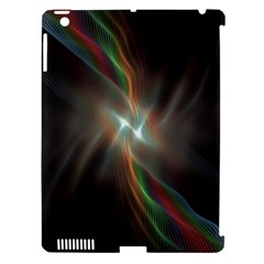 Colorful Waves With Lights Abstract Multicolor Waves With Bright Lights Background Apple iPad 3/4 Hardshell Case (Compatible with Smart Cover)