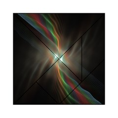 Colorful Waves With Lights Abstract Multicolor Waves With Bright Lights Background Acrylic Tangram Puzzle (6  X 6 )