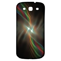 Colorful Waves With Lights Abstract Multicolor Waves With Bright Lights Background Samsung Galaxy S3 S Iii Classic Hardshell Back Case