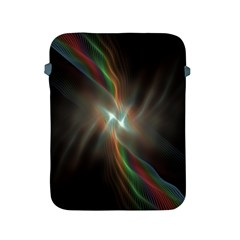 Colorful Waves With Lights Abstract Multicolor Waves With Bright Lights Background Apple iPad 2/3/4 Protective Soft Cases