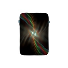 Colorful Waves With Lights Abstract Multicolor Waves With Bright Lights Background Apple Ipad Mini Protective Soft Cases