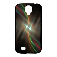 Colorful Waves With Lights Abstract Multicolor Waves With Bright Lights Background Samsung Galaxy S4 Classic Hardshell Case (PC+Silicone)