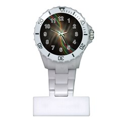 Colorful Waves With Lights Abstract Multicolor Waves With Bright Lights Background Plastic Nurses Watch