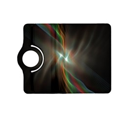 Colorful Waves With Lights Abstract Multicolor Waves With Bright Lights Background Kindle Fire HD (2013) Flip 360 Case