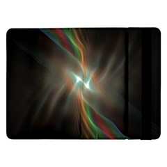 Colorful Waves With Lights Abstract Multicolor Waves With Bright Lights Background Samsung Galaxy Tab Pro 12.2  Flip Case
