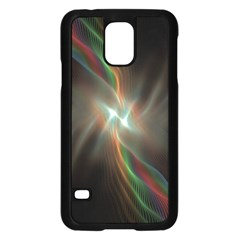 Colorful Waves With Lights Abstract Multicolor Waves With Bright Lights Background Samsung Galaxy S5 Case (Black)
