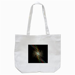 Colorful Waves With Lights Abstract Multicolor Waves With Bright Lights Background Tote Bag (White)