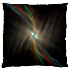 Colorful Waves With Lights Abstract Multicolor Waves With Bright Lights Background Large Flano Cushion Case (two Sides)